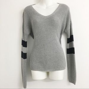 Pink Rose Sweaters - Pink Rose Grey Sweater D0190